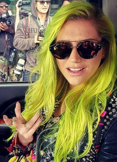 Kesha Green Hair