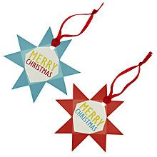 Buy John Lewis Woodland Star Gift Tags, Pack of 8 Online at johnlewis.com
