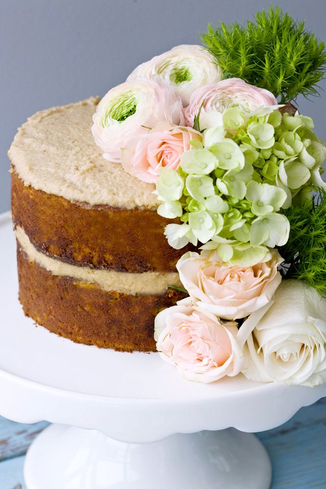 Brown Butter Harvest Cake with Vanilla Nut Creme This cake ...