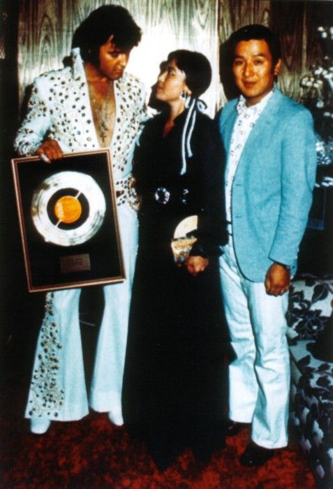 """Elvis received a Gold Record Award for """"Aloha from Hawaii"""" via satellite live concert. It was a worldwide ratings smash and the soundtrack album went to number one on the 'Billboard' album chart."""