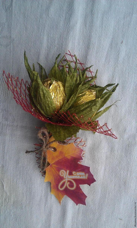 """Мастер-класс: сладкий букет """"Три орешка для учителя"""" - Ярмарка Мастеров - ручная работа, handmade"""