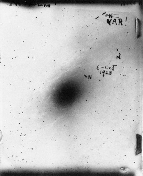 Edwin Hubble, Plate of the Andromeda Galaxy, 1923 | Ever ...