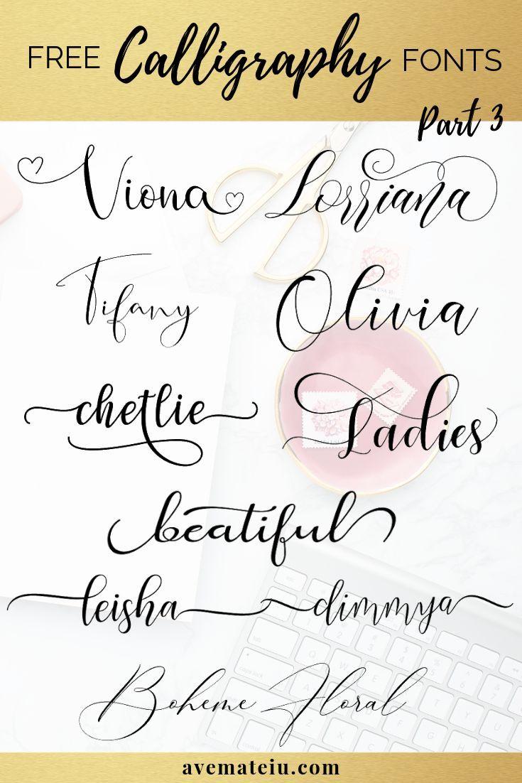 10 neue KOSTENLOSE schöne Kalligraphie-Schriften – Teil 3