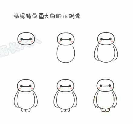 How to draw : Chibi Baymax (Part1)