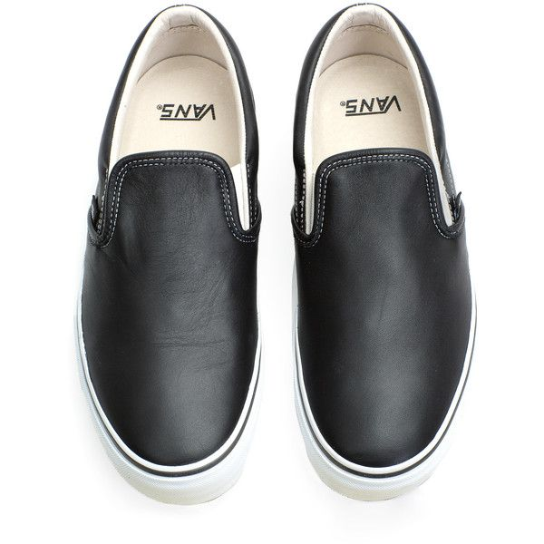 Vans Vault Classic Slip-On LX (1,390 MXN) ❤ liked on Polyvore featuring men's fashion, men's shoes, men's sneakers, shoes, sneakers, vans, men, mens slip on sneakers, mens shoes and mens slip on shoes