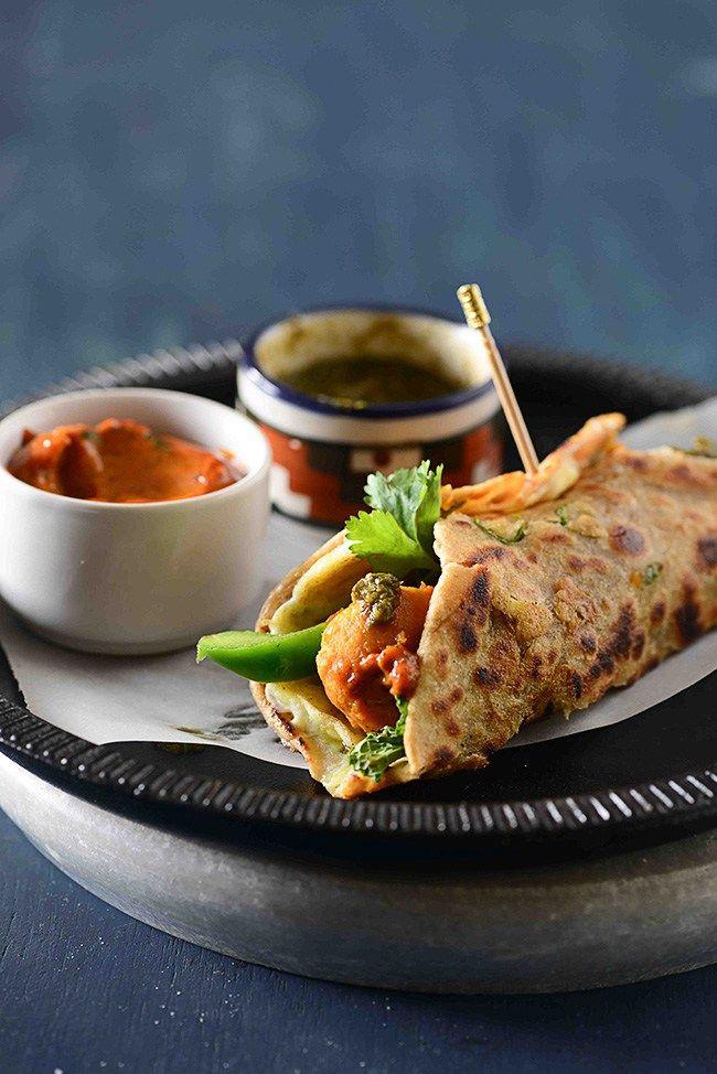 Vegetarian Kathi Roll or Kolkatta Roll