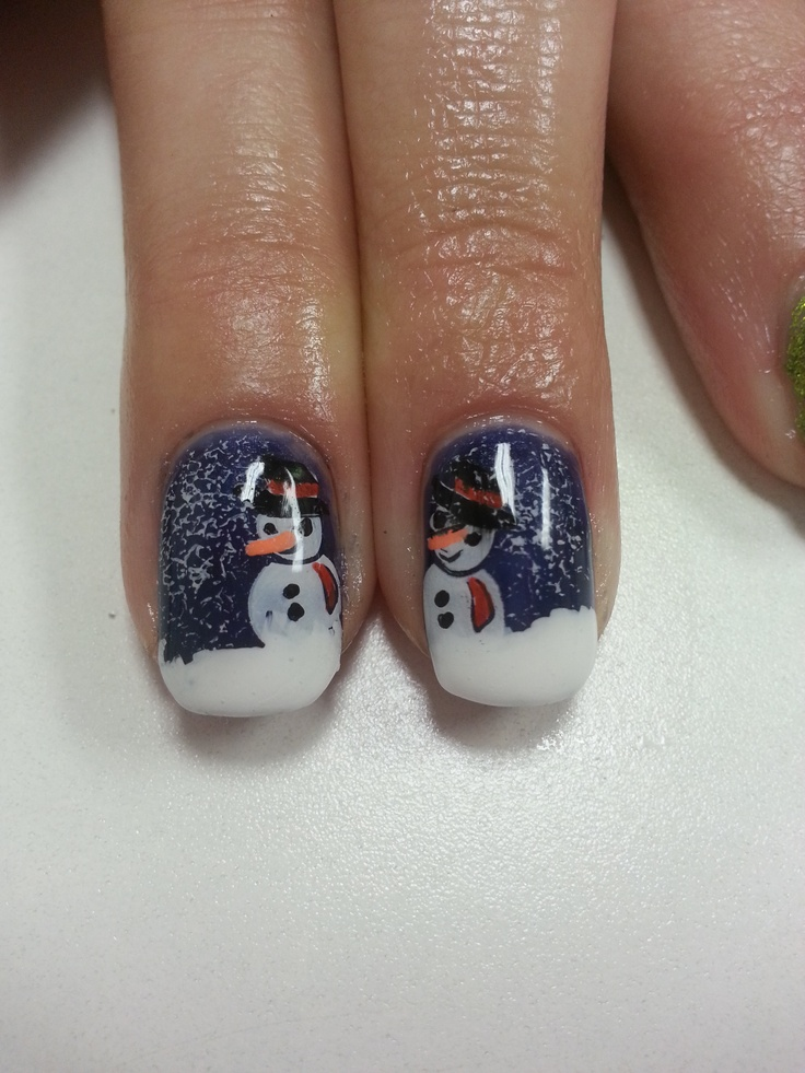 Bio Sculpture Holiday Nail Art by Nadine Bexson