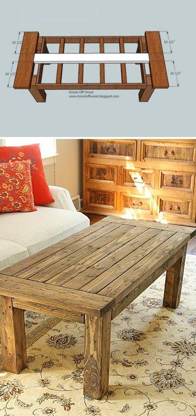 Sleek and Stylish DIY Coffee Tables  [ Barndoorhardware.com ] #DIY #hardware #slidingdoor