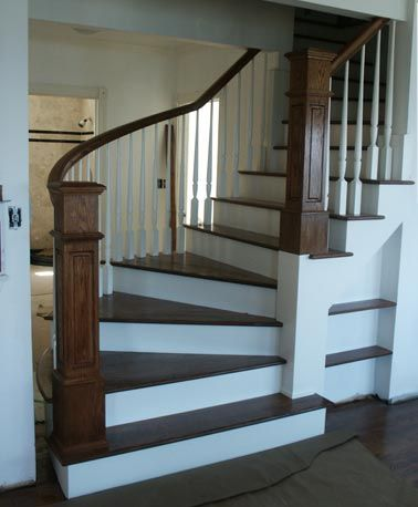 1000 images about custom stairs on pinterest painted for Custom staircase design