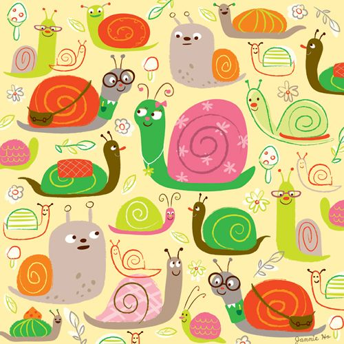 Snail Pattern by @jannie sofine sofine sofine Ho #illustration #surface #design