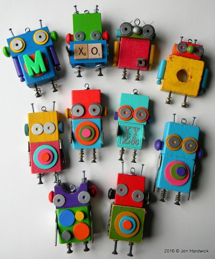 Roboter mit wiederverwendeten Materialien. #wieder…