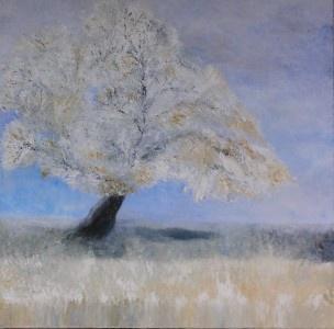 Original Abstract Landscape Modern Fine Art Painting by Wietzie Gerber