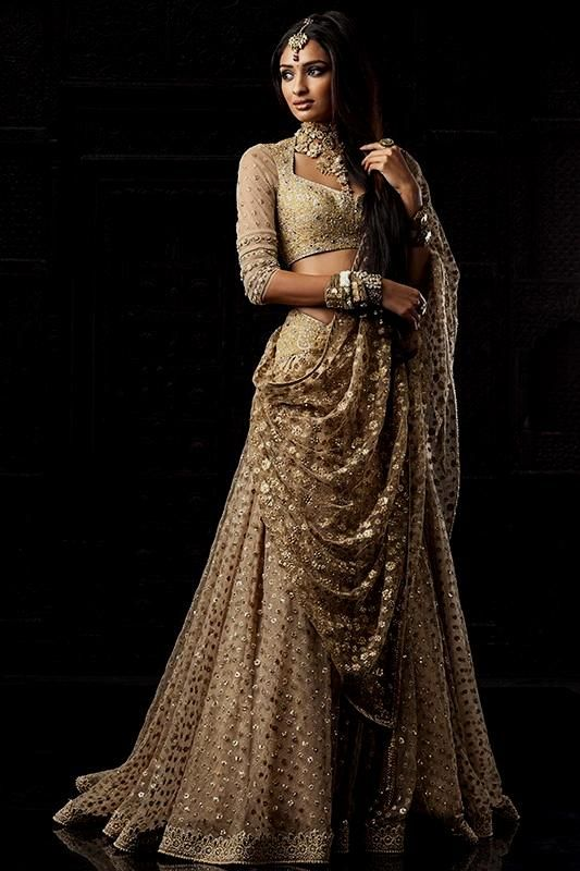 Gold indian Dress | white and gold indian bridal dress ...
