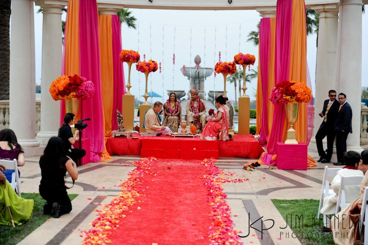 A fabulous colour pallette for weddings! Indian mandap. #weddings #colour #love #brides