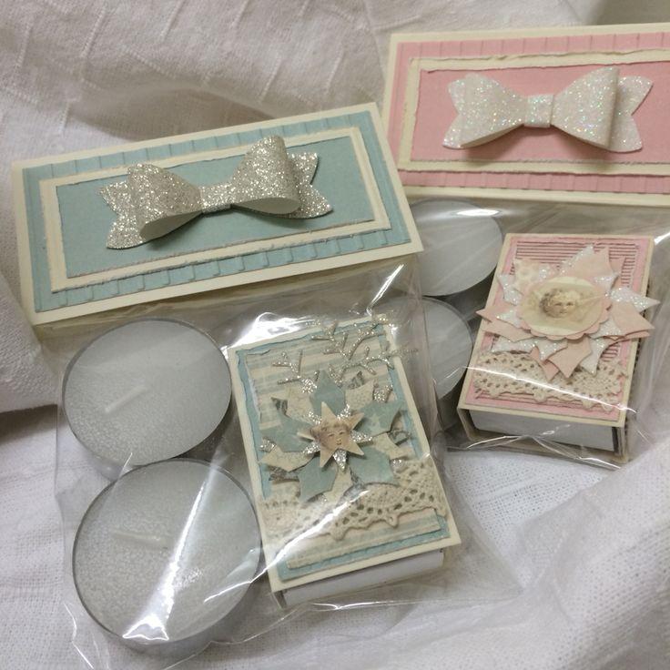 Tea light and matches gift set for Christmas