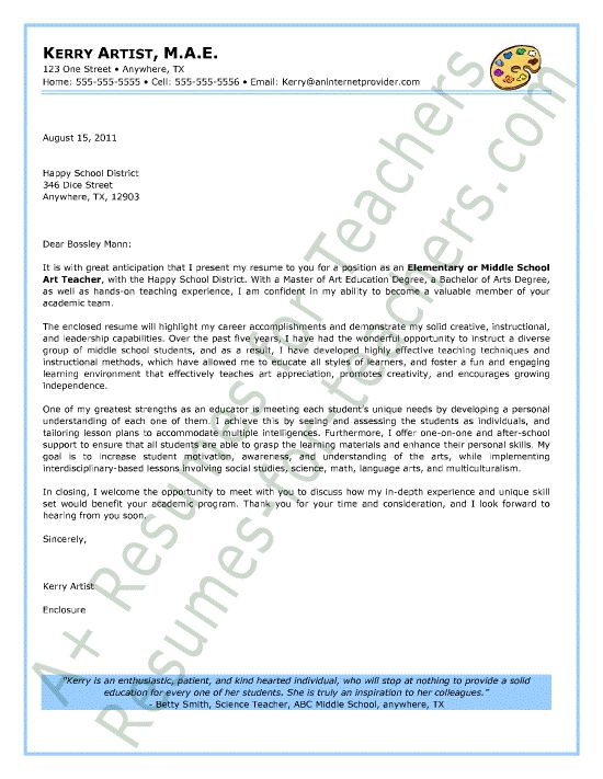 Best Teacher And Principal Cover Letter Samples Images On