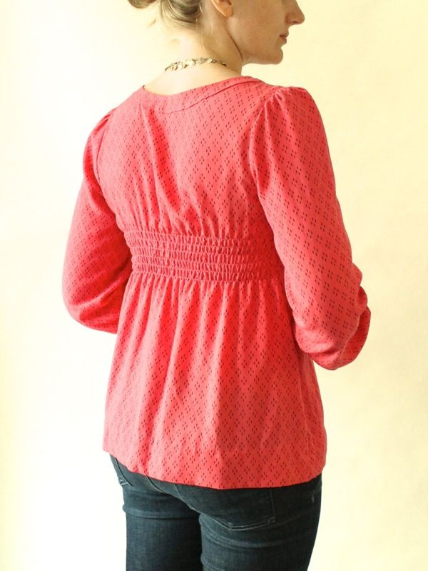 free washi dress pattern | Pink Washi top with a little bow