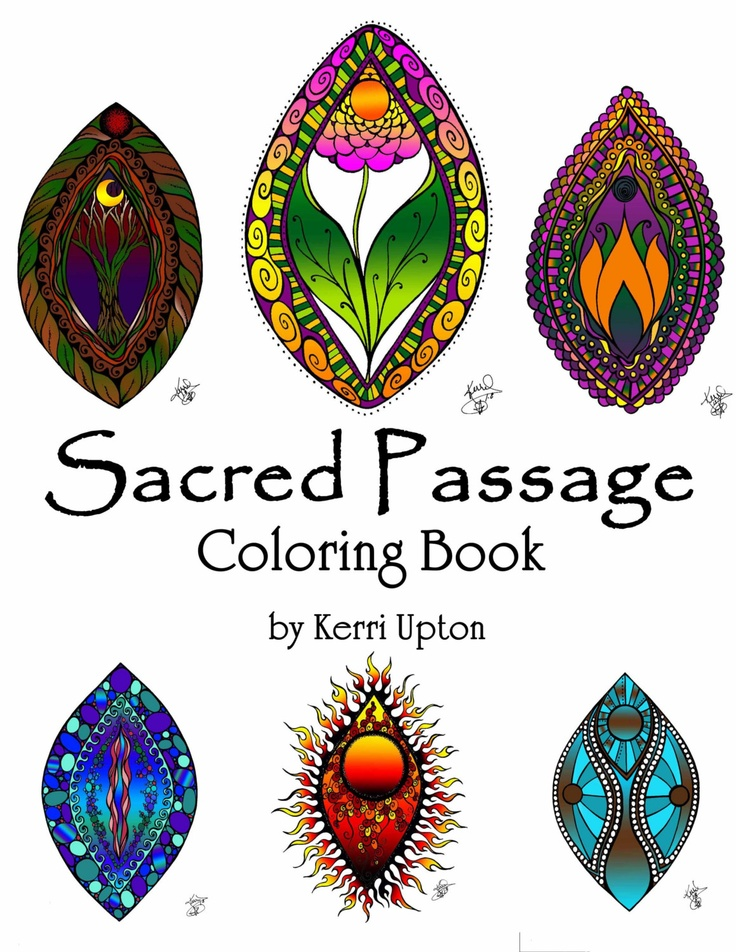 Sacred Passage Coloring Packet. $15.00, via Etsy.  ( WANT)