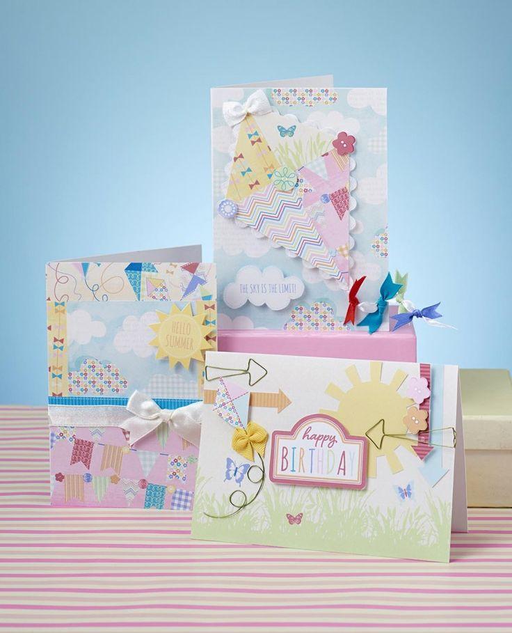 Papercraft Card Making Ideas Part - 26: Summer Kite Free Digital Papers And Card Making Ideas From Papercraft  Inspirations 153