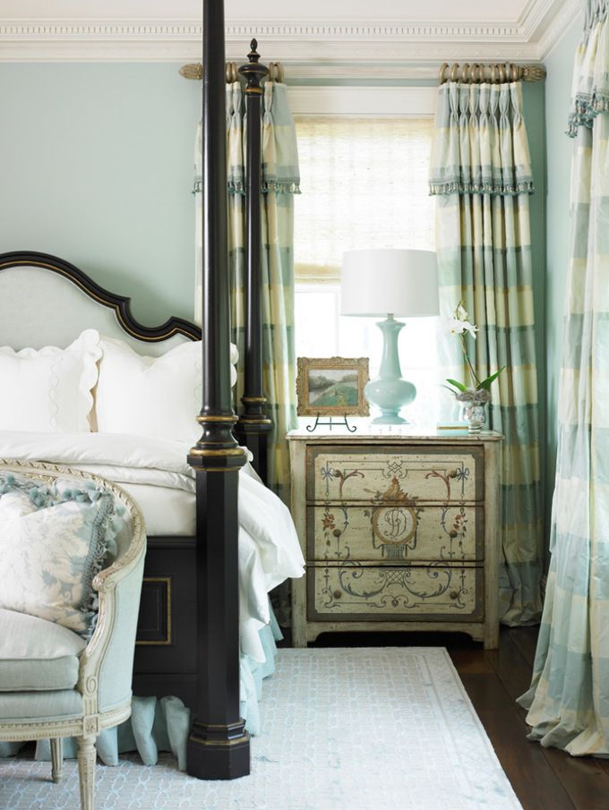 170 best window treatment ideas images on pinterest for Beautiful traditional bedroom ideas