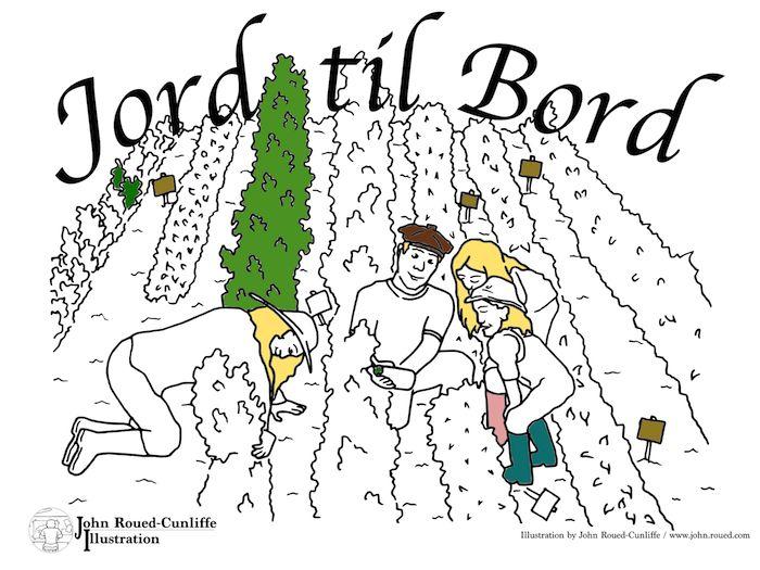 """Malebog """"Jord til Bord"""" af John Roued-Cunliffe - john.roued.com"""