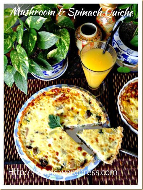 Mushrooms and Spinach Quiche (蘑菇菠菜乳蛋饼)   GUAI SHU SHU #guaishushu #kenneth_goh #mushroom_quiche #spinach_quiche #菠菜乳蛋饼  #蘑菇乳蛋饼