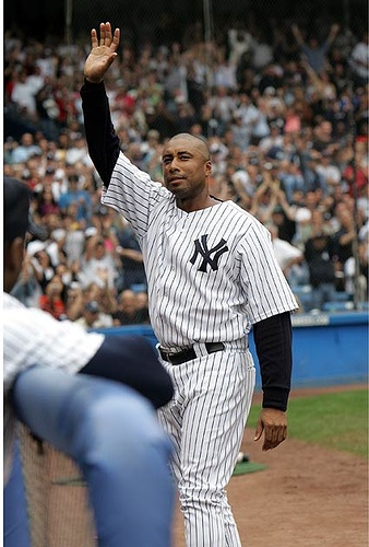 Cried like a baby at his last game in Yankee Stadium