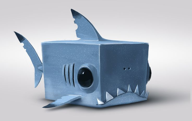 cube shark, romain flamand on ArtStation at https://www.artstation.com/artwork/cube-shark