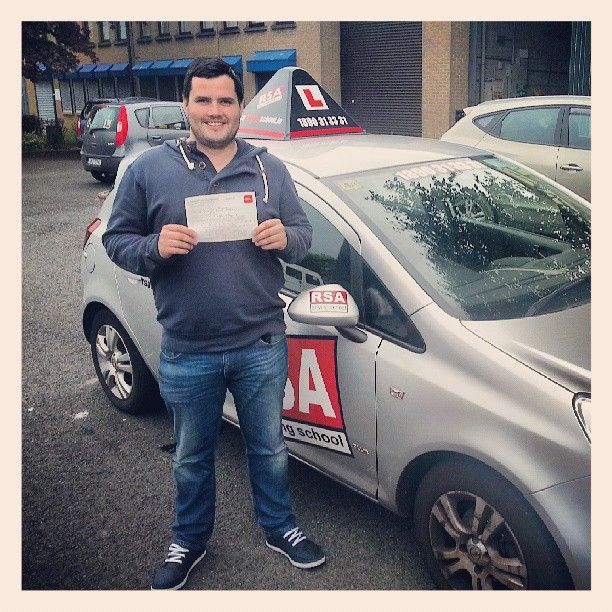 Congratulations to John who passed his test at #tallaght test centre today. Well done to Joe his instructor. Pass your test with the #rsadrivingschool http://www.rsadrivingschool.ie