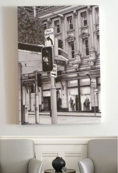Pitt Street, Sydney (2012) - Matte poster or large format canvas using archival quality inks.