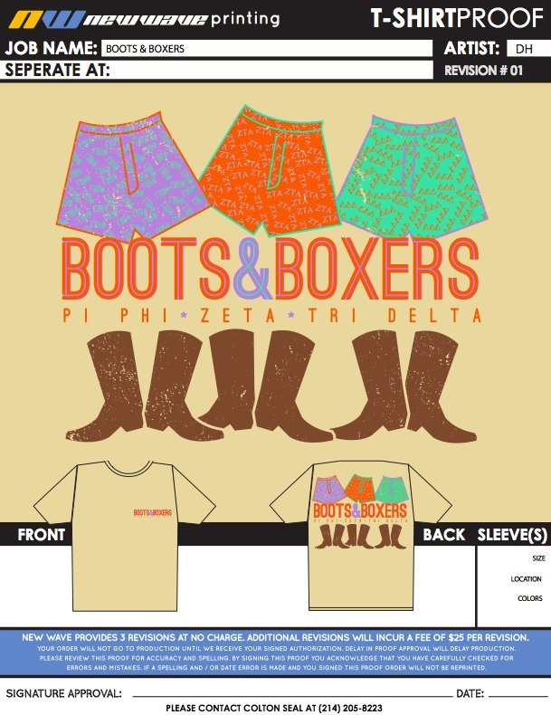 Boots and Boxers mixer idea Id change the shirt color tho