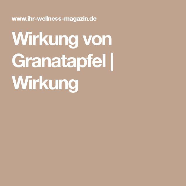 Wirkung von Granatapfel | Wirkung