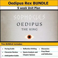 best oedipus rex images teaching ideas school  oedipus rex or oedipus the king unit bundle
