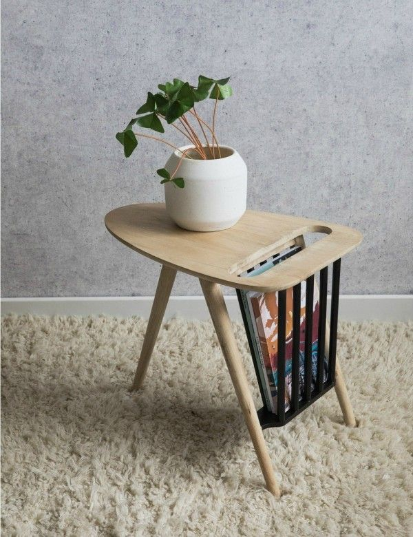 Retro Wooden Magazine Table