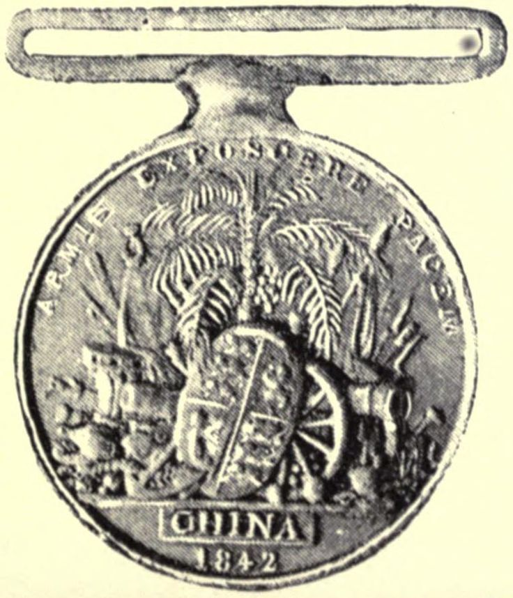 Opium War Medal was issued by the British Government in 1843 to members of the British Army and Royal Navy who took part in the First Anglo-Chinese War (1839–42). The medal was designed by William Wyon. The China War Medal was originally intended by the Governor-General of India, in October 1842, to be awarded exclusively to all ranks of the Honourable East India Company's Forces. Instead, in 1843, under the direction of Queen Victoria, the British Government awarded it without clasp to all…
