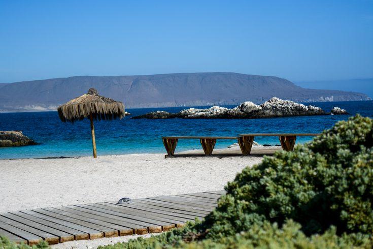 Bahia Inglesa norte do Chile, uma praia paradisíaca no meio do deserto.
