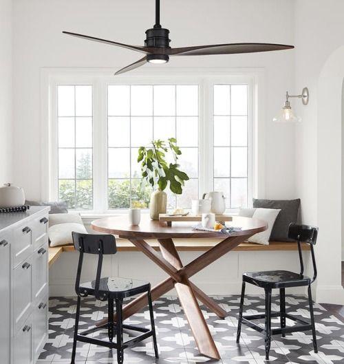 sleek kitchen eating space
