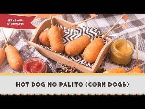 Hot Dog no palito (Corn Dogs) - Receitas de Minuto #261 - YouTube                                                                                                                                                      Mais