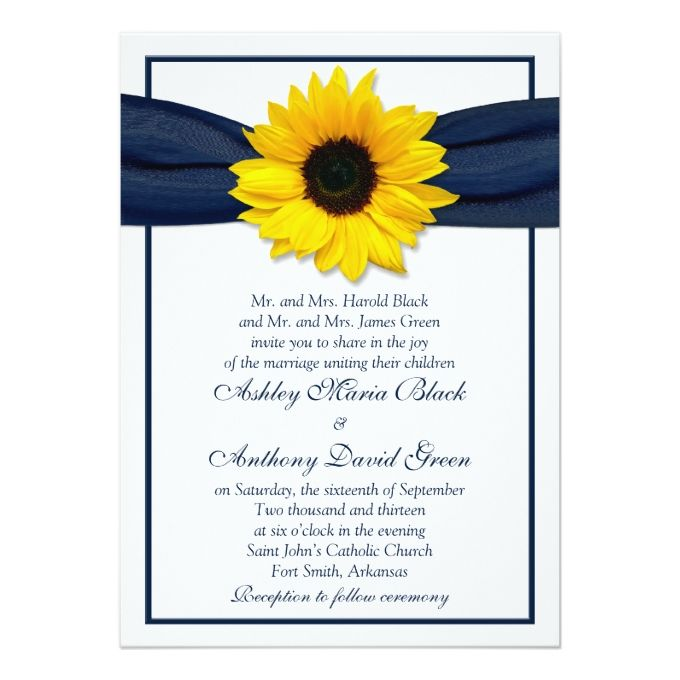 727 Best Sunflower Wedding Invitations Images On Pinterest