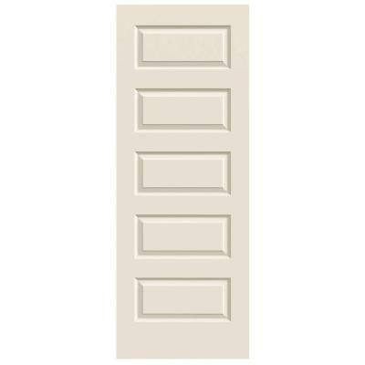 Jeld Wen Smooth 5 Panel Primed Molded Interior Door Slab