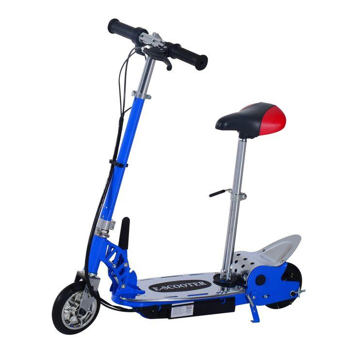 Trottrinette électrique avec le siège charge max 80kg 13km/h bleu 15BU - Aosom.fr - Aosom.fr