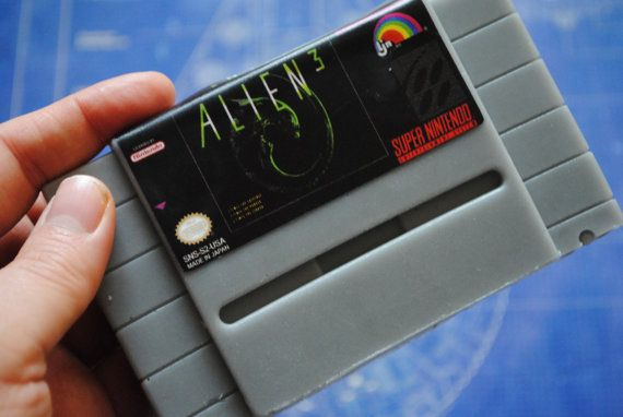 SNES Super Nintendo Cart Soap: Alien Retro and geeky by NerdySoap