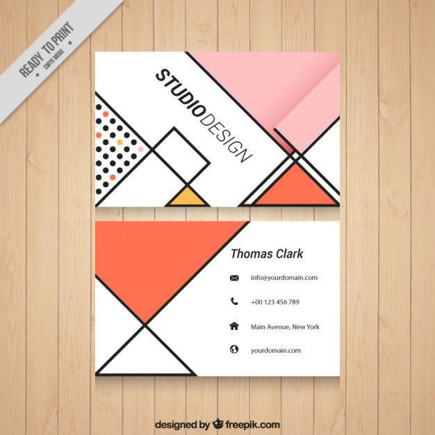 オレンジ色のトーンでのビジネスカード 無料ベクター