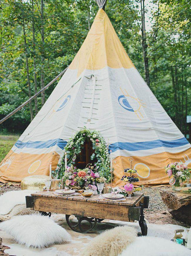 Bohemian Glam Wedding Inspiration on a Tipi Farm | Green Wedding Shoes Wedding Blog | Wedding Trends for Stylish + Creative Brides