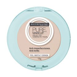 Pó Compacto Maybelline Pure Makeup Beige Claro | Netfarma