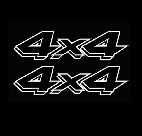 4x4 Pair A13 Sticker Set Of 2 Ford Ford Chevy Dodge Toyota 4x4