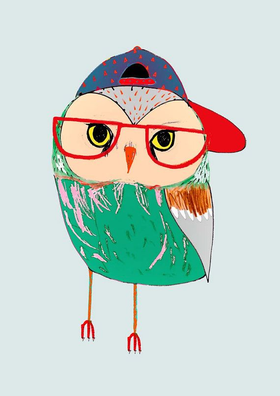 Owl Kid. Art Print Kids art Childrens Decor Wall by AshleyPercival, $40.00