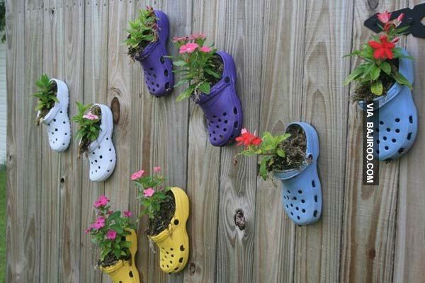 Have your grandkids donate last year's shoes. What a wonderful way to bring fun into the garden!12 Wacky (and Wonderful) Garden Decorations