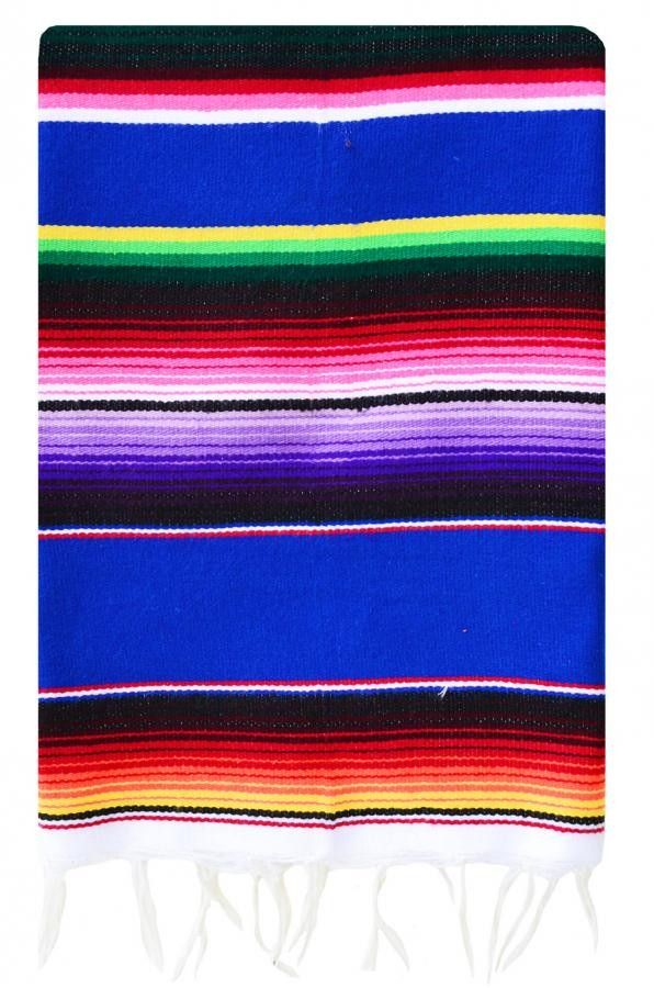 Add a splash of southwestern flare with our Mexican serapes. Use it as a table runner or fold it over the back of your couch for a pop of color.