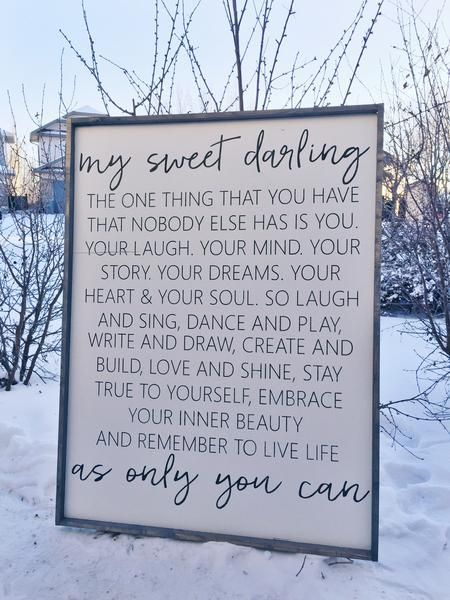 my sweet darling quotes home decorhome - Home Decor Quotes
